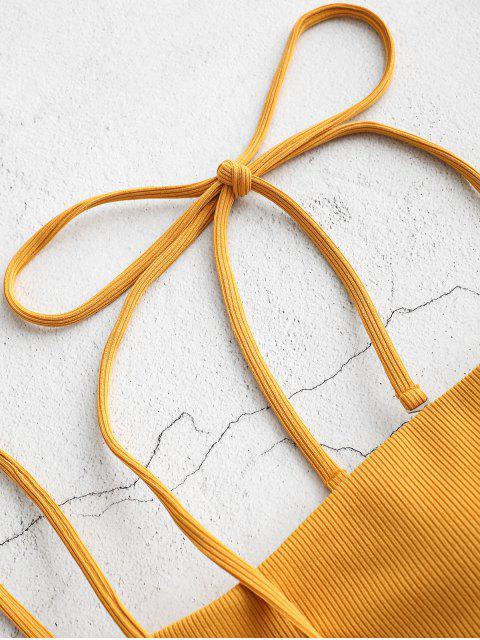 ZAFUL Bikini Bandeau Top Acolchado - Amarilla de Abeja  L Mobile