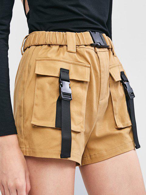 ZAFUL Taschen Gurt Reißverschluss Shorts - Zimt M Mobile