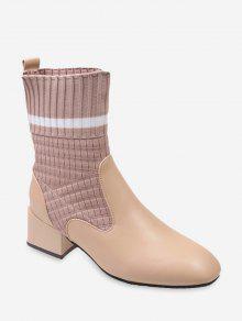 مخطط تصحيح سوك منتصف أحذية الكعب - اللون البيج الاتحاد الأوروبي 36