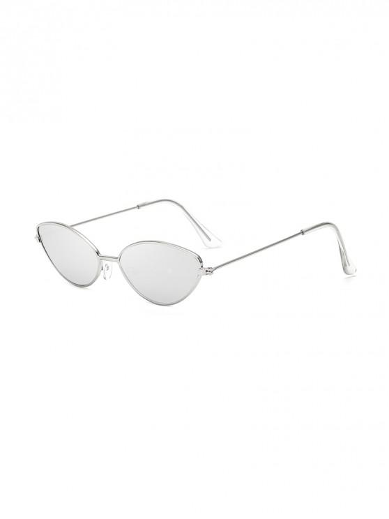 shops UV Protection Kitty Eye Metal Sunglasses - SILVER