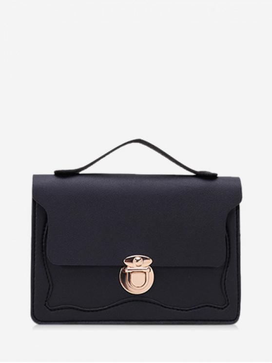 shop Chain Lace Edge Shoulder Bag - BLACK