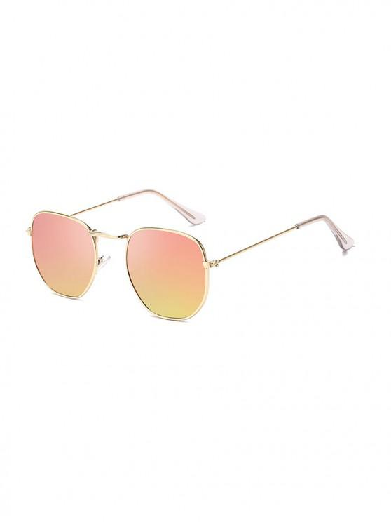 fashion Metal Lightweight Square Sunglasses - LIGHT PINK