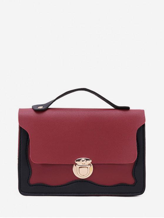 unique Chain Lace Edge Shoulder Bag - RED WINE