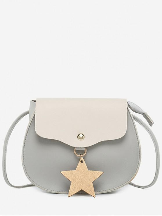women's Star Charm Flap Mini Crossbody Bag - LIGHT GRAY