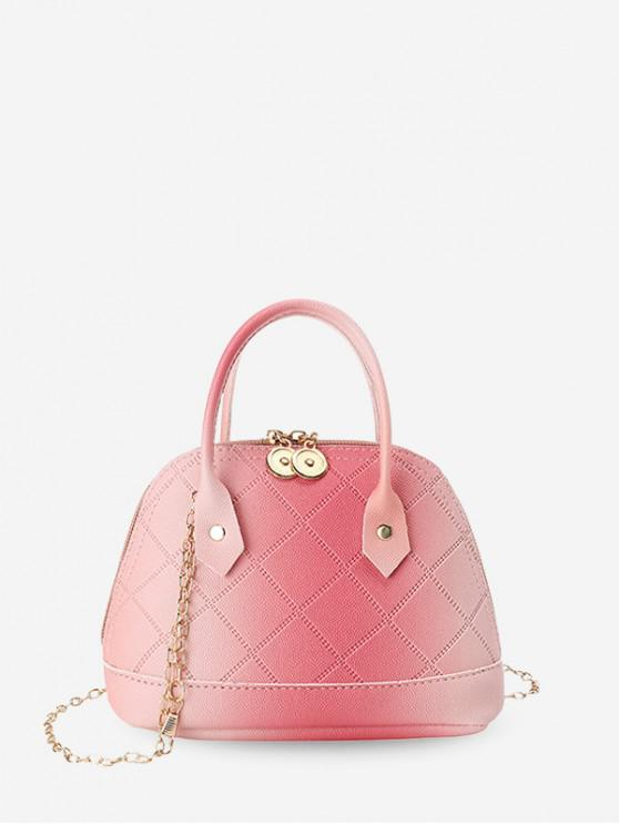 buy Quilted PU Leather Shell Tote Bag - LIGHT PINK