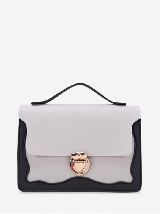 women's Chain Lace Edge Shoulder Bag - LIGHT GRAY