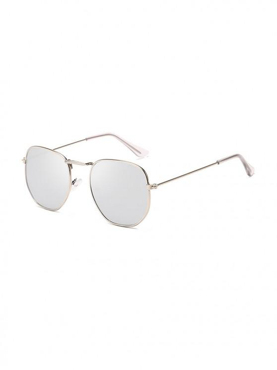 online Metal Lightweight Square Sunglasses - SILVER