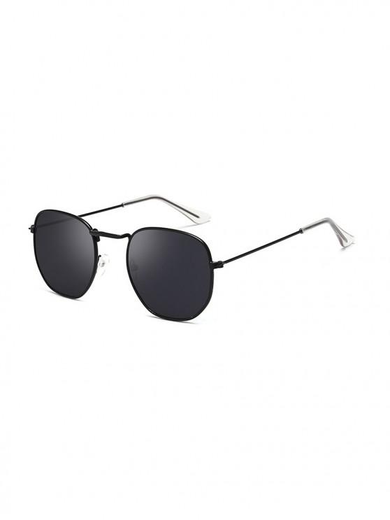 outfit Metal Lightweight Square Sunglasses - BLACK EEL