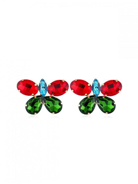 sale Rhinestone Butterfly Stud Earrings - MULTI-A