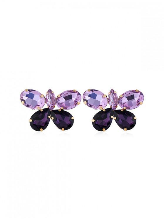 new Rhinestone Butterfly Stud Earrings - MULTI-C