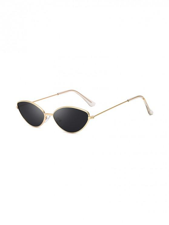 outfit UV Protection Kitty Eye Metal Sunglasses - BLACK