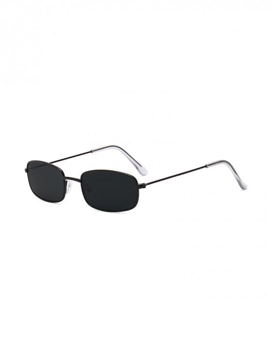 women Rectangle Metal Lightweight Sunglasses - BLACK EEL