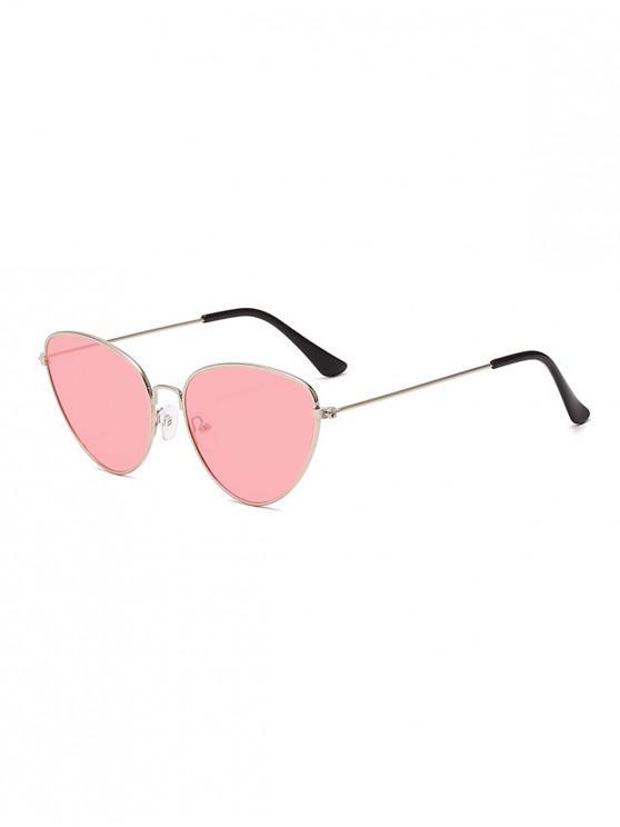 best Outdoor Metal Triangular Pilot Sunglasses - PINK