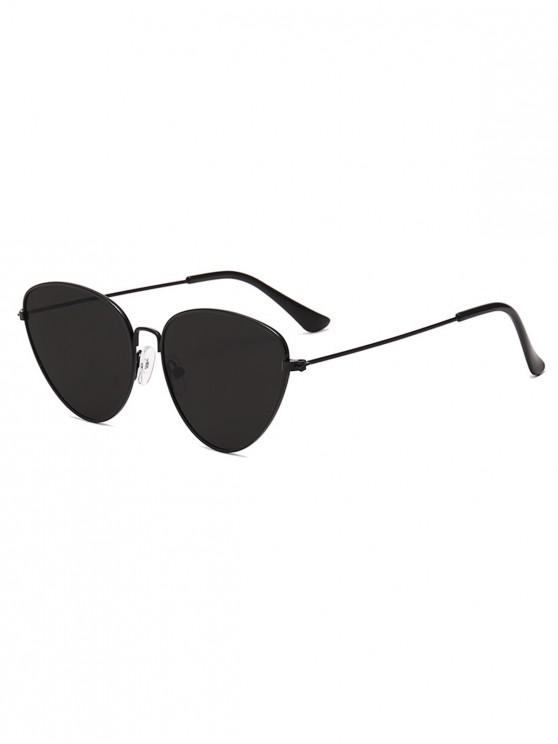 new Outdoor Metal Triangular Pilot Sunglasses - BLACK
