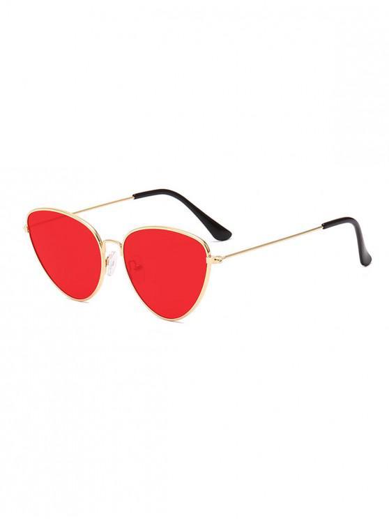 Occhiali da Sole Non Cerchiati in Metallo Cadente All'Aperto - Rosso