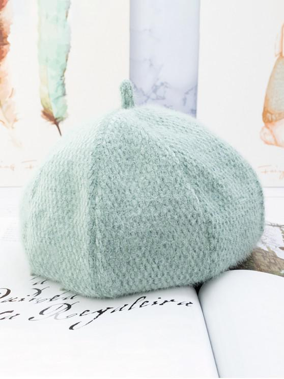 outfit Japanese Style Solid Fuzzy Beret Hat - PALE BLUE LILY