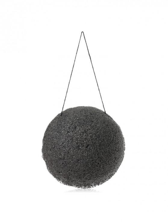 ladies Face Cleansing Sponge Sparkling Ball - BLACK