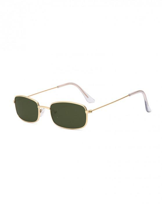 unique Rectangle Metal Lightweight Sunglasses - DARK GREEN