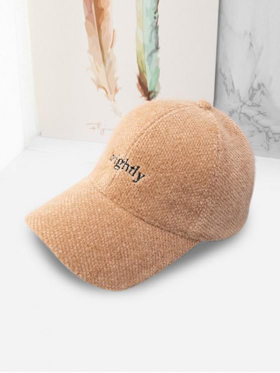 trendy Character Peaked Hat - CAMEL BROWN