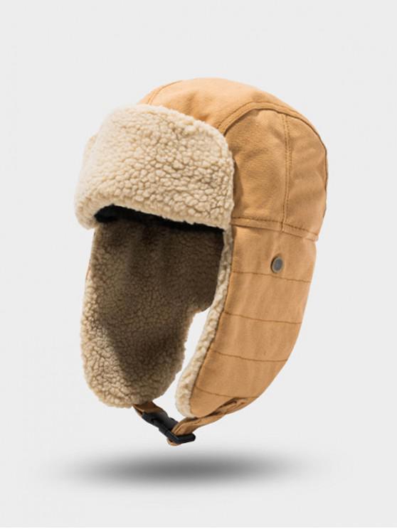 trendy Outdoor Fleece Ear Trapper Hat - CAMEL BROWN