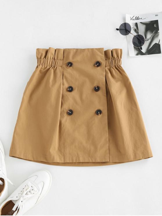 chic ZAFUL Paperbag Mini A Line Skirt - CARAMEL XL