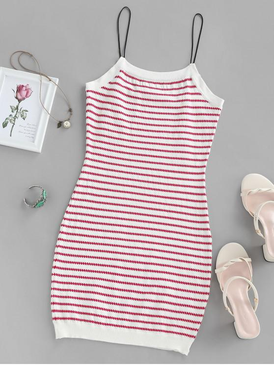 outfit Knit Slip Dress - LAVA RED M