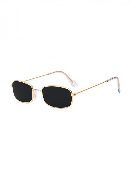 shops Rectangle Metal Lightweight Sunglasses - BLACK