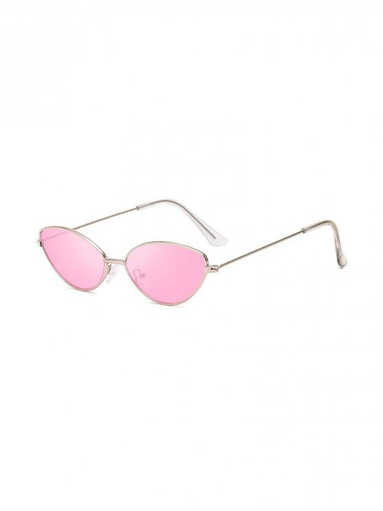 women's UV Protection Kitty Eye Metal Sunglasses - PIG PINK
