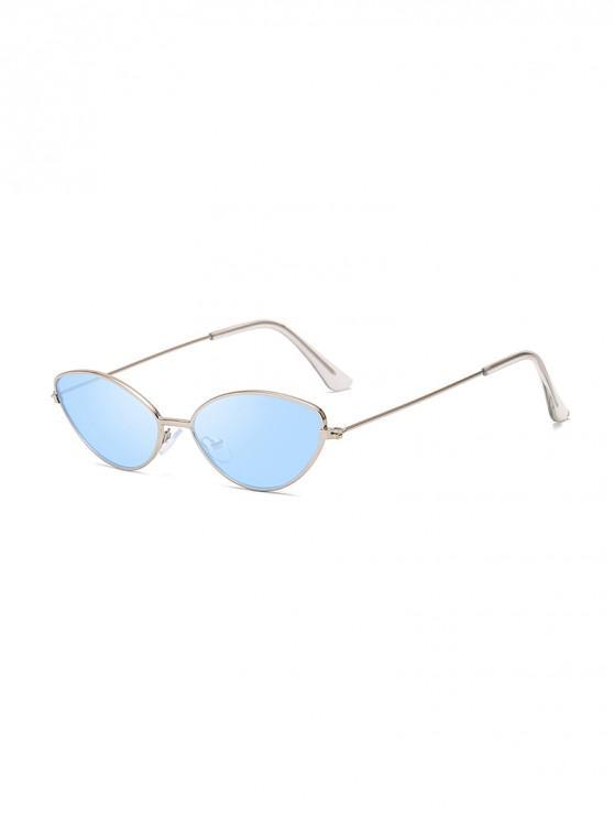 latest UV Protection Kitty Eye Metal Sunglasses - SEA BLUE