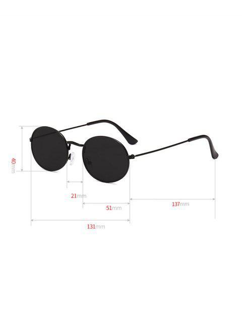 Ovales de metal anti UV gafas de sol - Negro  Mobile