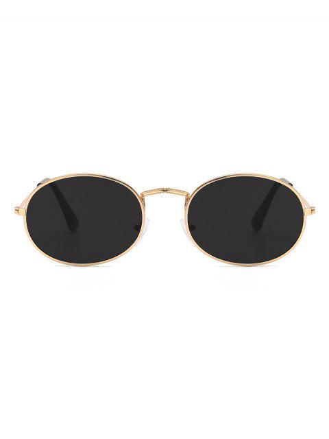 Lunettes de Soleil Ovales Métalliques Anti UV - Noir  Mobile