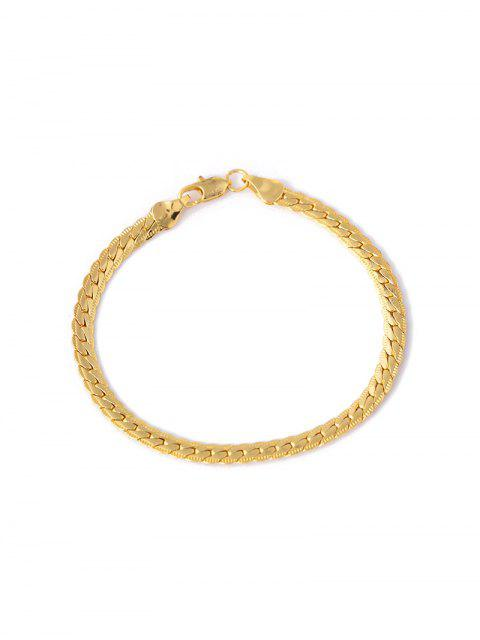 unique Hip Hop Brief Chain Bracelet - GOLD  Mobile