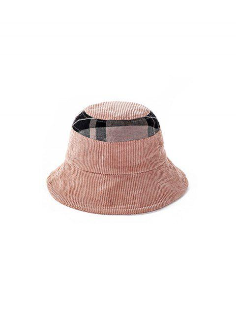 best Jointed Plaid Floppy Bucket Hat - PINK  Mobile