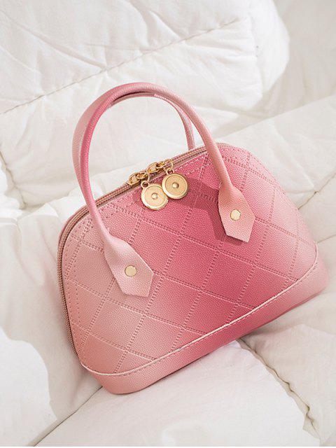 Shell acolchada de la PU bolso de mano - Rosa Luz  Mobile