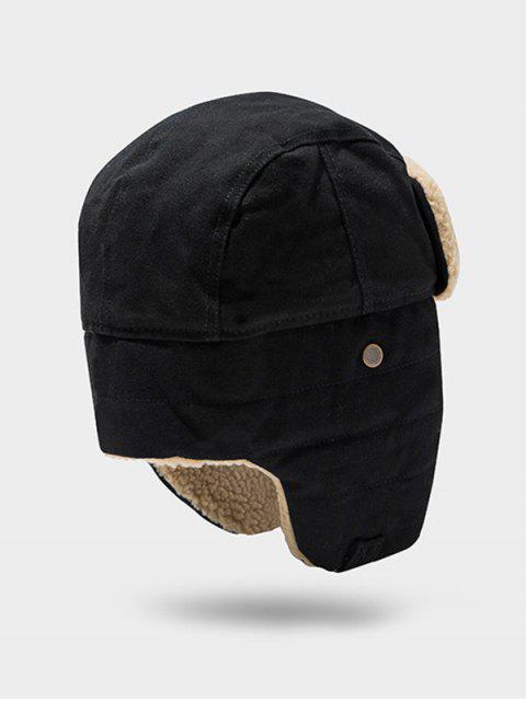 unique Outdoor Fleece Ear Trapper Hat - BLACK  Mobile