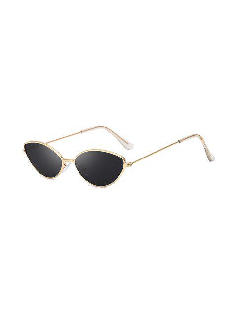 Защита от UV Китти глаз Металлические Солнцезащитные Очки - Чёрный  Mobile