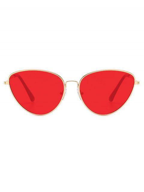 Occhiali da Sole Non Cerchiati in Metallo Cadente All'Aperto - Rosso  Mobile