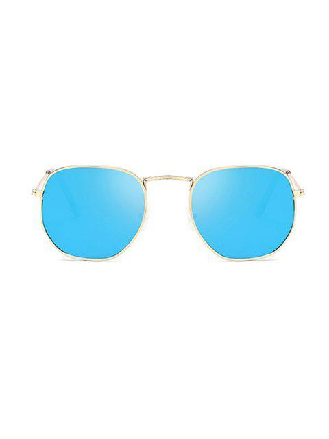 Легкие Металлические Квадратные Солнцезащитные Очки - Глубокий небесно-синий  Mobile