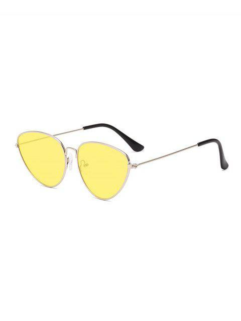 Occhiali da Sole Non Cerchiati in Metallo Cadente All'Aperto - Giallo  Mobile