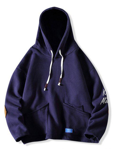 Carta de pescado Impreso Diseño bolsillo con capucha - Cadetblue XL Mobile