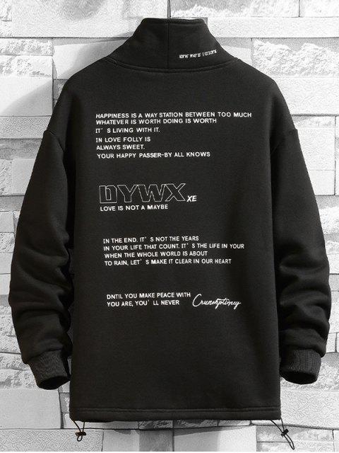 Carta Gráfica paño grueso y suave ocasional de la camiseta - Negro XS Mobile