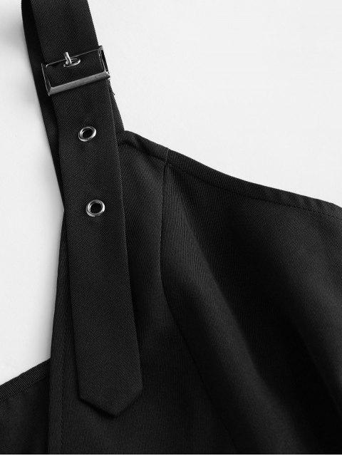 ZAFUL Mini Robe Bouclée Ceinturée à Double Boutonnage - Nuit M Mobile