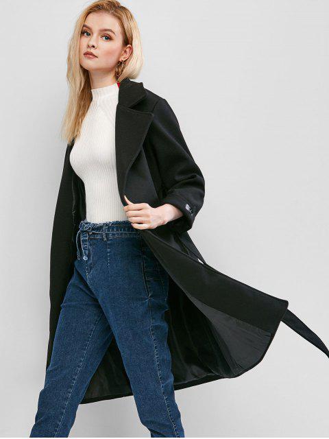 Manteau avec Poche à Revers - Noir M Mobile