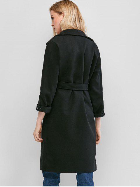Manteau avec Poche à Revers - Noir L Mobile