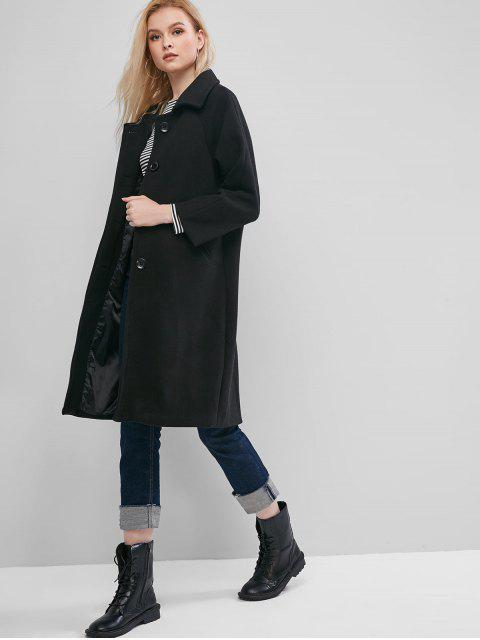 Manteau Long à Manches Raglan - Noir L Mobile