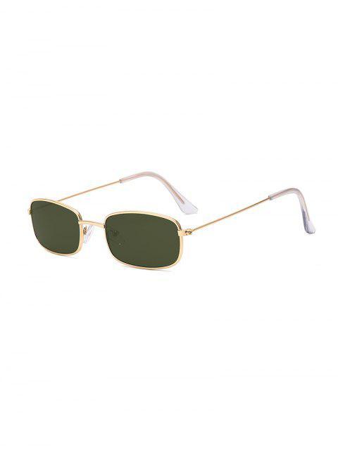 Прямоугольник Металлические Легкие Солнцезащитные Очки - Темно-зеленый  Mobile