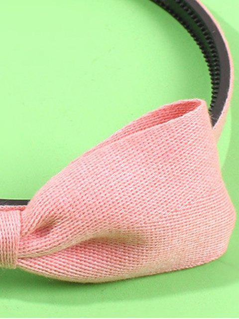 womens Fabric Solid Bowknot Hairband - LIGHT PINK  Mobile