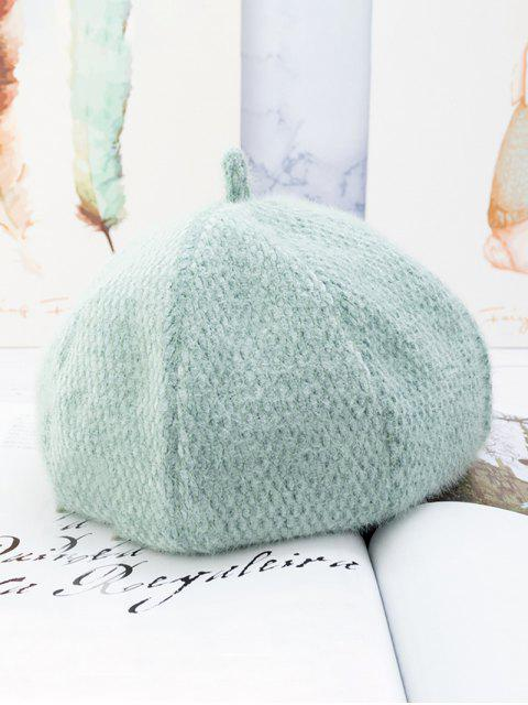 outfit Japanese Style Solid Fuzzy Beret Hat - PALE BLUE LILY  Mobile