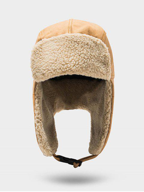 trendy Outdoor Fleece Ear Trapper Hat - CAMEL BROWN  Mobile