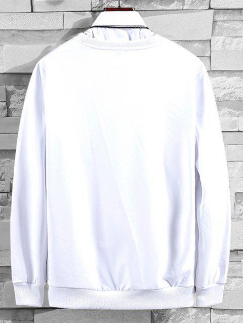 信圖形刺繡外套 - 白色 XL Mobile